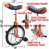 Unicycle Cycling Bike with Comfortable Release Saddle Seat