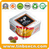 Food Packaging Square Metal Tin Can for Fruit Candy Sweets