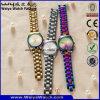 Custom Brand Logo Quartz Watch Fashion Digital Watches of Gold Color (WY-17003F)