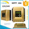 12V/24V MPPT 20A Heatsink-Cooling RS485-Port Solar Regulator Sch-20A-EL