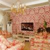 D20303 Red Damask Wallpaper, Beautiful Flower Wall Paper