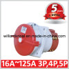 IP67 125A 3p+N+E Industrial Sloping Flanged Sockets