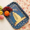Rectangular Tin Plate Serving Trays for Christmas