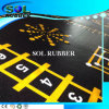 Bright Pattern Roll Commercial Gym Rubber Mat