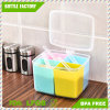 Colorful Kitchen Food Storage Durable Seasoning Box Set Three Round Split Crisper Spice Shaker Condiment Bottles