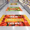 Full Color Digital Printing Advertising Vinyl Self-Adhesive Floor Sticker