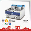 Stainless Steel Electric China Chip Fryer with 2-Tank 2-Basket (HEF-12L-2)