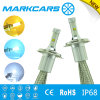 Markcars Auto Car LED Dual Beam Headlight H4 with Yellow White blue