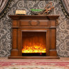 Modern Simple Wood Heating Electrical Fireplace with LED (323)