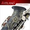 Eb Key Black Lacquer Finish Professional Alto Saxophone (AAS5506K)