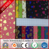 China Hot Selling Newest Cheapest Transfer Print Shining PVC Synthetic Rexine Fabric/Leather for Bags, Shoes, Seat