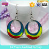 Fashion Custom Painted Round Earrings Design