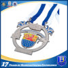 High Quality Custom Award Silver Medal with Ribbons