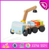 New Design Children Funny Wooden Toy Pulling Trucks W05c082