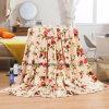 [Spot Sale] Flannel Fleece Blanket/ Customized Bedding- Flower