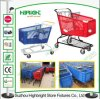 180L Plastic Supermarket Shopping Trolley Cart