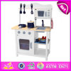 2014 New Wooden Play Kitchen, Popular Kids Toy Play Kitchen, Hot Sale Children Set Play Kitchen Factory W10c045W