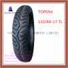 Tubeless, ISO Nylon 6pr Long Life Motorcycle Tyre with 110/80-17tl