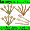 Customized Logo Engrave Biodegradable Disposable Wood Tableware Utensil Silverware Flatware