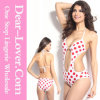 White Red Polka DOT Teddy Swimwear