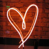 Real Glass Neon Light Heart Shape Sign