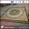 Square Yellow Marble Stone Water Jet Pattern/Medallion for Flooring