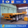 Tractor Available Tri-Axle Container 40ton 40FT Flatbed Semi-Trailer