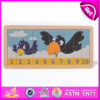 2015 Wholesale Kids Wooden Number Puzzle, Baby Preschool Wooden Number Puzzle Toys, Educational Wooden Jigsaw Puzzle Toy W14c154