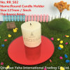 4mm Round Red Glass Mirror Candle Holder