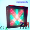 LED Flashing Red Cross & Green Arrow Traffic Lane Control Signal Light