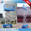 Mobile Mini Automotive Upright Scissor Lift for Outdoor / Indoor Working