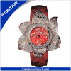2016 ODM New Stylish Flower-Shaped Ladies Women Quartz Rolexable Watch