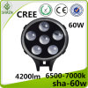Factory Wholesale 60W CREE LED Headlight for Jeep Harley