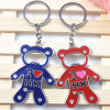 Souvenirs-Promotional Metal Bear Bottle Opener Key Chain Ring Gift