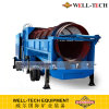 Placer Gold Processing Plant Movable Trommel Drum Screen