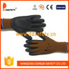 Ddsafety 2017 Brown Nylon with Black Nitrile Glove