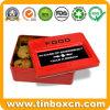 Emergency Food Rectangular Metal Storage Tin for Snacks Biscuits Cookies
