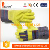 Ddsafety 2017 7g Bleach Cotton and Polyester String Knitted Work Gloves Green PVC Dots on Palm