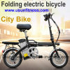 Usun Portable Bike 250W 14inch Folding Electric Bicycle with Remove Battery