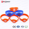 125kHz/13.56MHz RFID Silicone Wristband Waterproof for Events/Activities