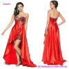 Strapless and Backless Pleats Beading Prom Dress