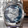 Custom Logo Quartz Men′s Watch Crystal Swiss Wrist for Man (WY-17017B)