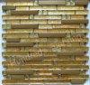 Strip Gold Diamond and Metal Mosaic Tile (SM213)