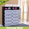 DIY 12-Cube Shoe Cabinet Plastic Shoe Storage Organizer with Doors