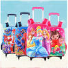 Primary School Students Cartoon Trolley Backpack 3D Shoulders Pack Back