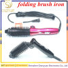 2017 Hair Roller Meches Brush Hair Straightener Auto Folding Mini Electric Hair Brush Hair Curler Portable for Travel