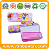 3D Embossment Double-Deck Metal Tin Case, Pencils Tin Box
