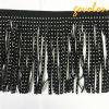 2017 Fashion Black Leather Tassel