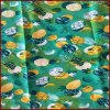 Pineapple Printed Green Color Microfiber Peach Skin