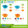 High Quality Tableware Round Bamboo Fiber Salad Bowl with Binaural Handles